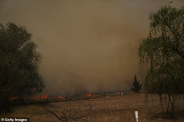 Other fires burning in the area include one threatening homes in near Canberra Airport