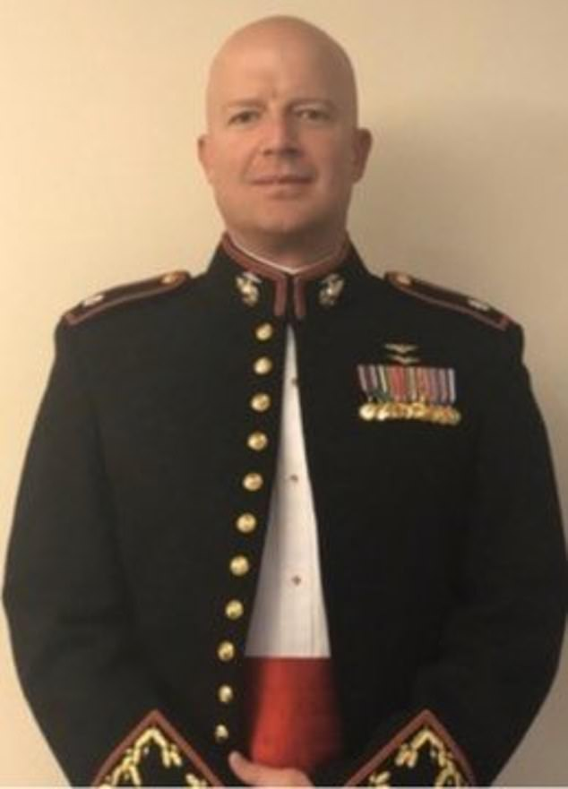 Pictured: First Officer Paul Hudsonserved in the United States Marine Corp for 20 years