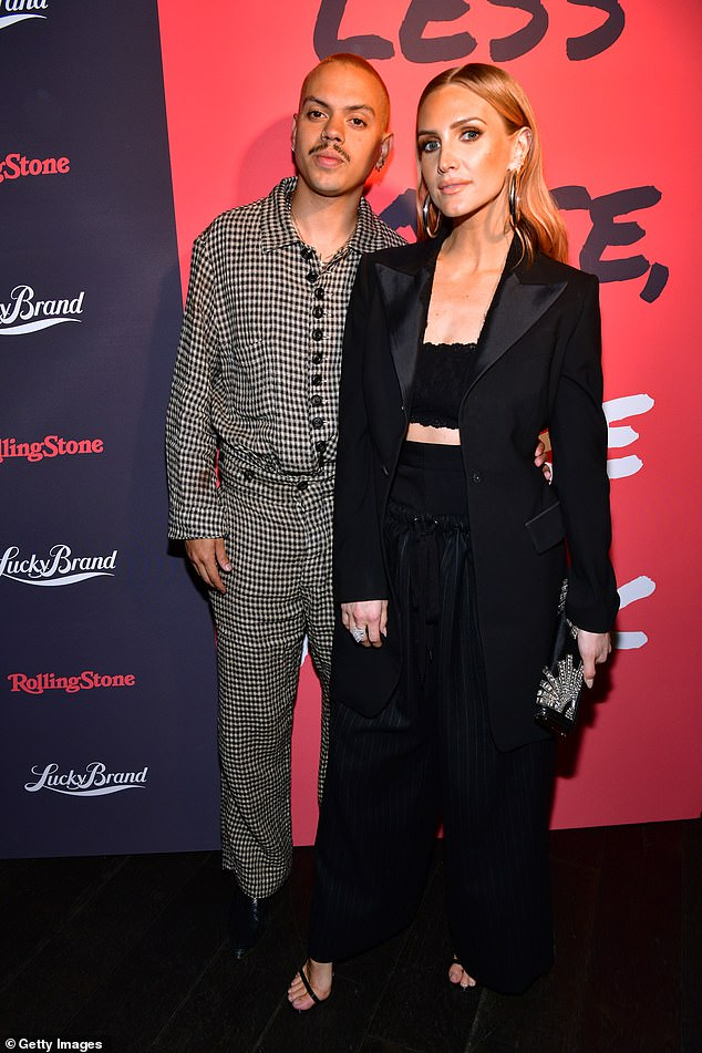Stylish:Evan Ross and Ashlee Simpson looked trendy inside the bash