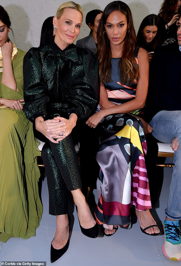 FROW: Joan was last seen with Mollie Sims at the Ellie Saab Paris Fashion Week show earlier this month.