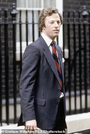 Troubled: Mark (pictured in 1979) is the troubled son of former Prime Minister, Margaret Thatcher, who will be played by Gillian Anderson