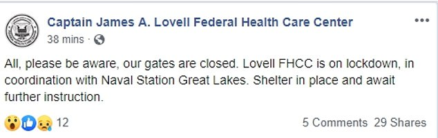Also on lock down is the Captain James A. Lovell Federal Health Care Center, according to the medical facility's Facebook