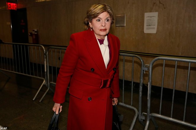 Gloria Allred, who is representing some of Weinstein's victims, was among those in attendance at court on Friday