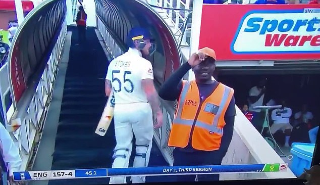 Stokes appeared to be angered by comments by the fan made off camera after he was out