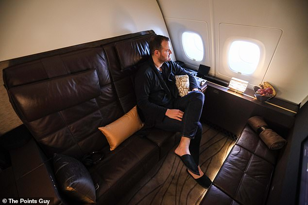 Mr Kelly said that The Residence is 'the absolute epitome of luxury, privacy and space on a commercial airline'