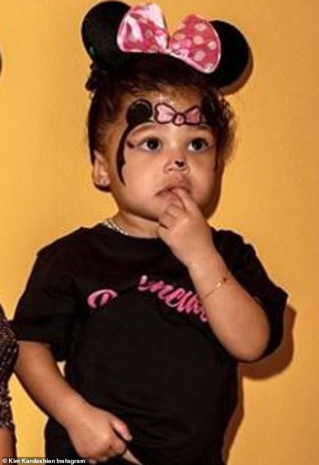 Sweet: Kylie Jenner's daughter is Stormi, aged one; dad is rapper Travis Scott