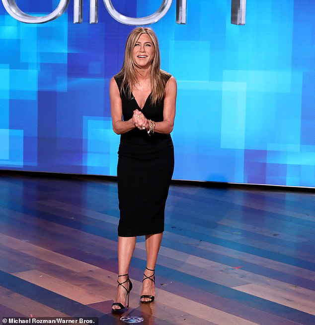 Welcome Jen: Jennifer Aniston looked sublime as she guest-hosted for Ellen DeGeneres on her hit daytime show Friday