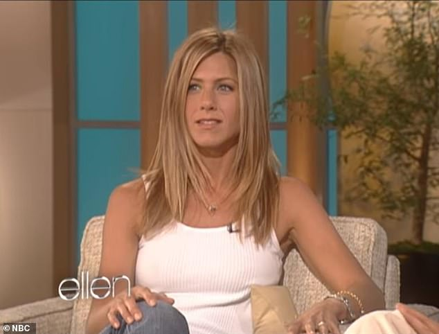 Baby Jen: She was referring to her September 8, 2003 appearance on Ellen's show, which indeed was the first-ever episode of the long-running, Emmy Award-winning talk show