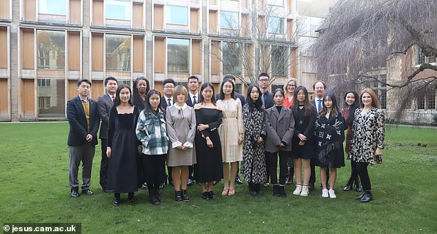 Fifteen students from Wuhan (pictured) attended the University of Cambridge this week