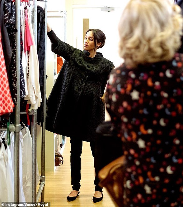 Fashionable philanthropy: Last year, Meghan helped create a capsule collection to benefit Smart Works, a charity that provides clothes and coaching to unemployed women