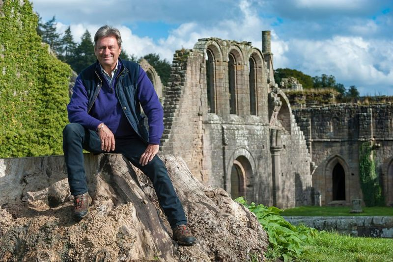 Like the National Trust's almost six million members, Alan Titchmarsh says he loves exploring historic homes and gardens. One of his favourite National Trust spots isFountains Abbey, pictured, atStudley Royal Water Garden in Yorkshire