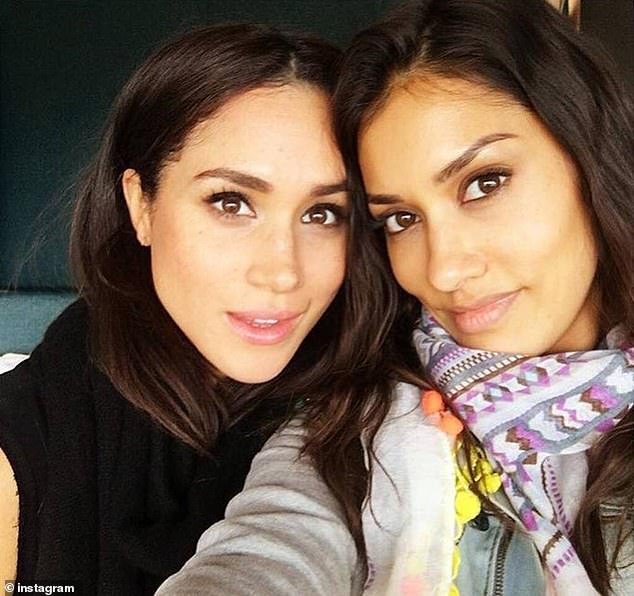 An Instagram account called @archefoundation was created in 2018.It has been inactive since and has only one follower, Janina Gavanker (right), an actress and close friend of Meghan who attended her wedding in Windsor