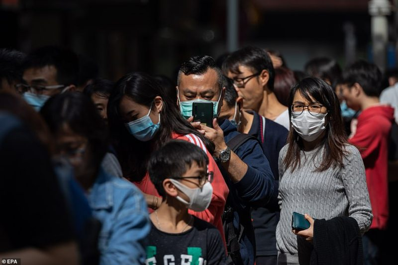 People in Hong Kong are picturing lining up to get free vitamin C tablets and bottles of hand sanitiser this morning
