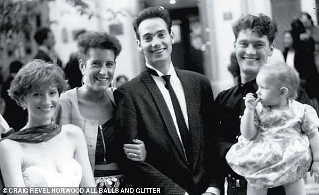 Revel Horwood on his wedding day with wife Jane in 1990. 'I was both gay and straight, so being bisexual, it wasn't a big issue for me or for her'