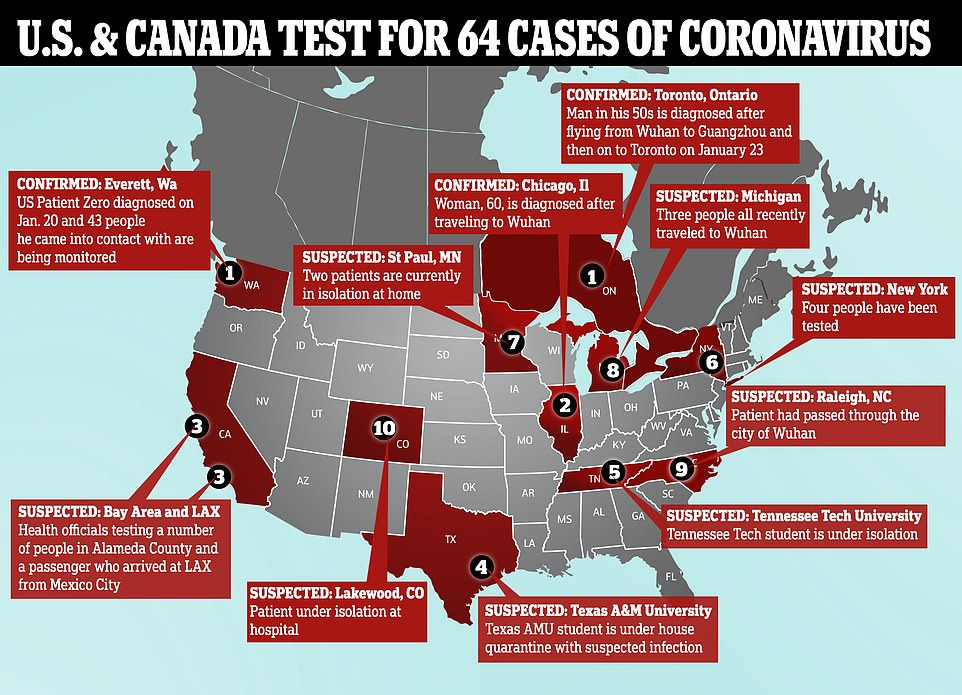 Canada confirms its first coronavirus case while a Chicago woman ...