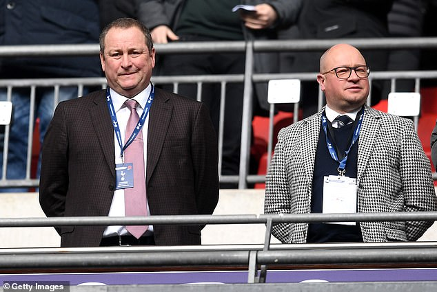 Mike Ashley (left) owns Newcastle United and reportedly forked out around £135 million to buy the club