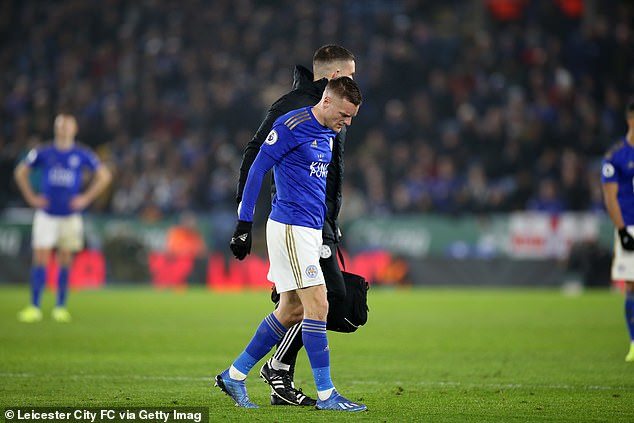 Brendan Rodgers now hopes that he will have Jamie Vardy (pictured) fit for Aston Villa