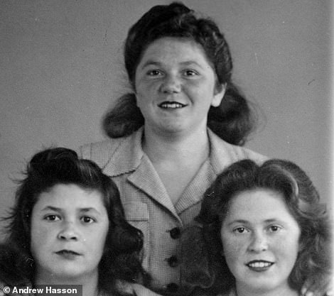 Alex's aunts Rosie and Sussie and, top, cousin Shindy, who all survived the horror of the camp