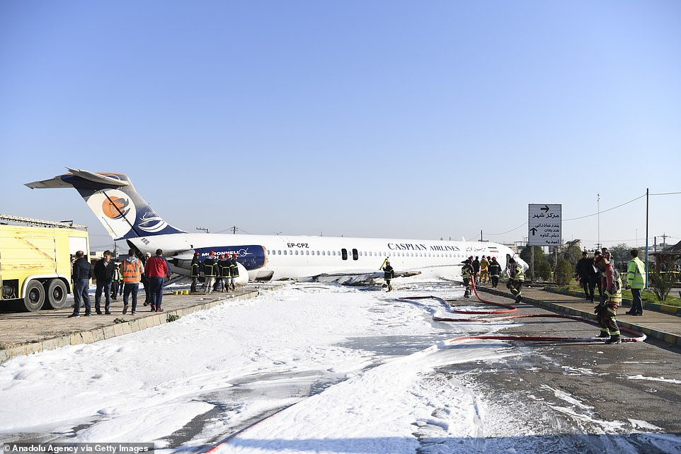 There were 150 passengers on board the jet at the time it crashed, though none of them were seriously hurt in the accident