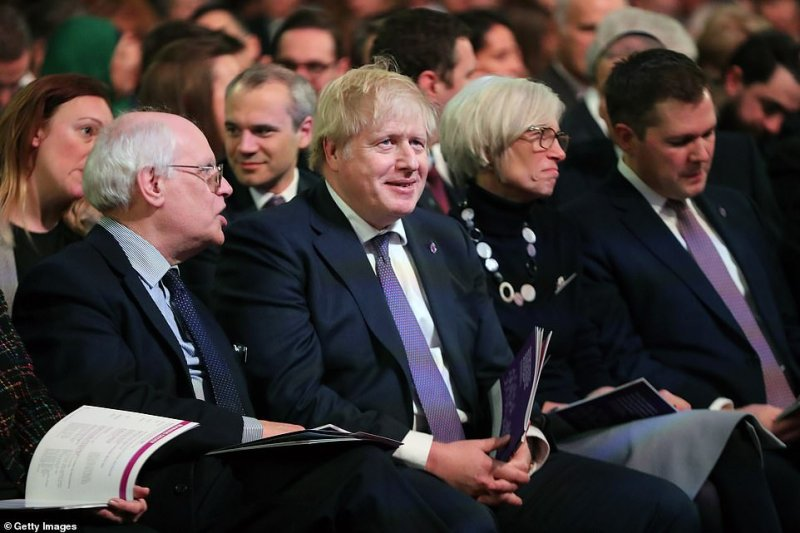 Prime Minister Boris Johnson also attended the event in Central Hall, which forms the centrepoint for Britain's Holocaust commemorations