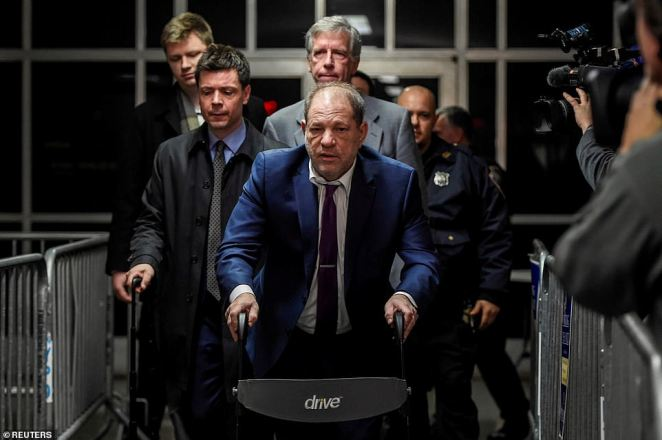 Weinstein looked tired as he left his sexual assault trial Monday evening after Haleyi underwent an intense cross-examination