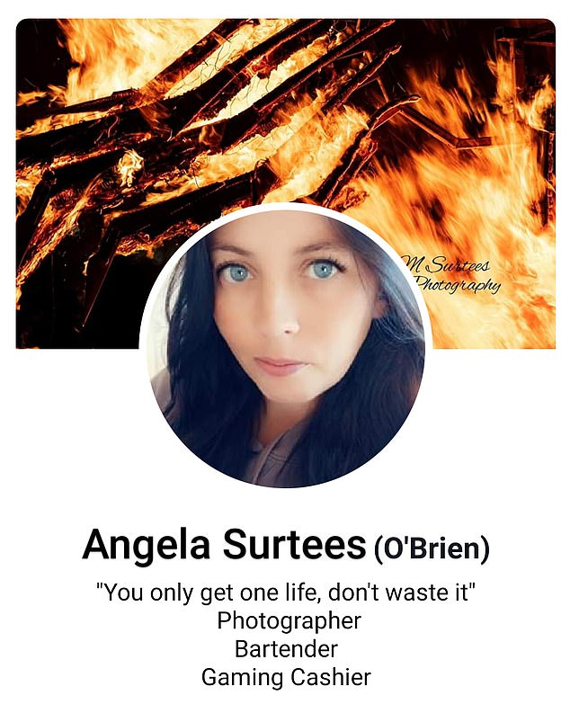 Angela Surtees had been a frequent contributor to her Facebook page, encouraging people to raise money for bushfire victims