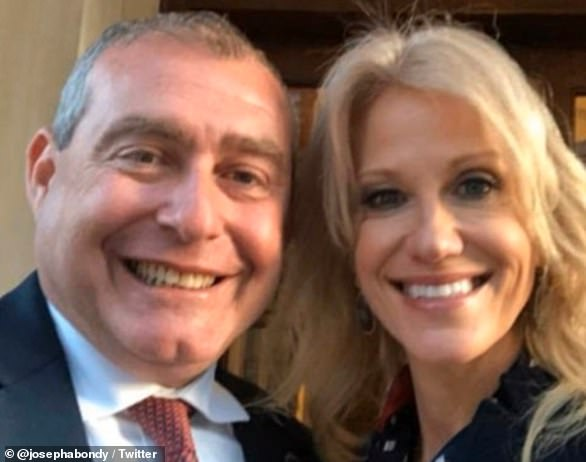 We've never met, of course we can have a photograph: Lev Parnas' attorney tweeted this image just after Kellyanne Conway climbed aboard the fast-moving denial train