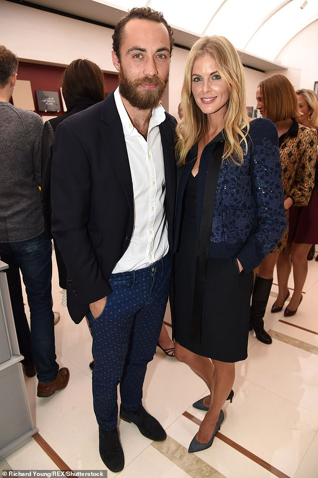 Split: The media personality was linked to the Duchess of Cambridge's brother, James Middleton, 33, but their on-and-off romance ended in 2017