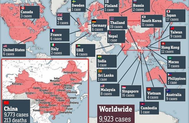 Ponad 22 000 przypadków zostało potwierdzonych w 22 krajach i terytoriach na całym świecie
