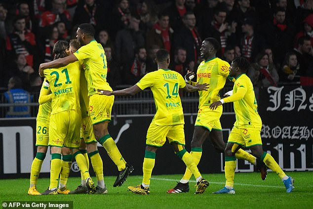 Nantes had twice gone ahead and looked set for a vital away win in the race for Europe