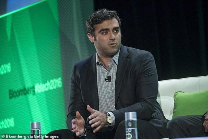 En el trabajo: Polansky es visto en 2016., hablando en su papel de director de Parker Media durante una conferencia tecnológica en San Francisico