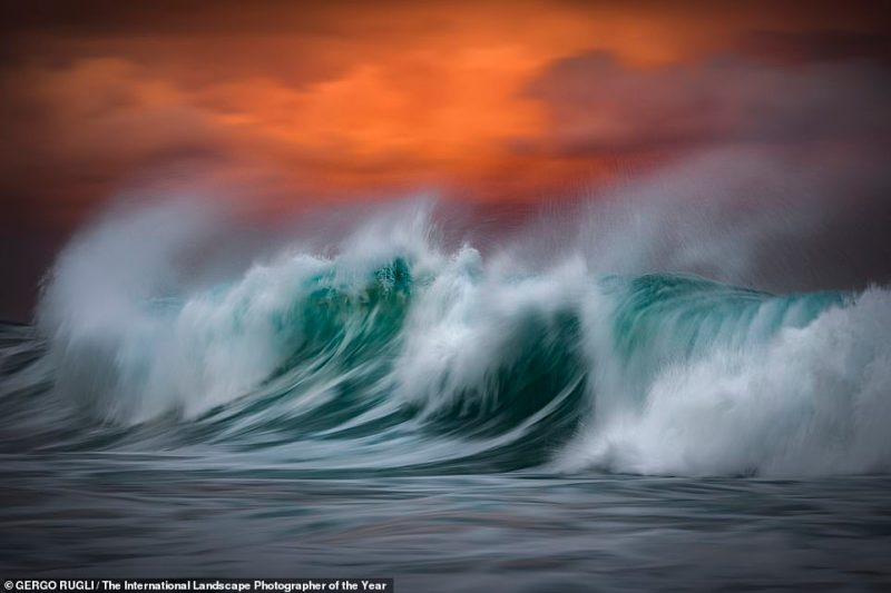 Australian snapper Gergo Rugli caught this image of roiling waves breaking on Bronte Beach, seven kilometres east of Sydney