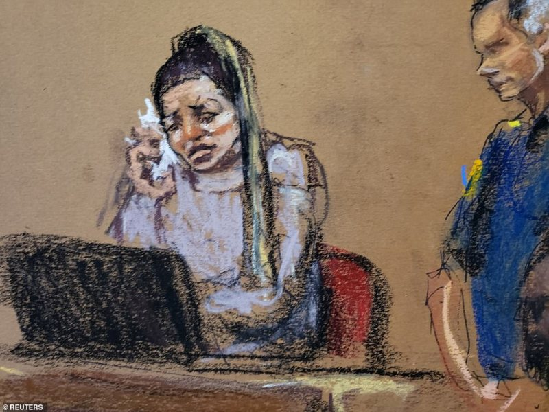 Key accuser Jessica Mann had a panic attack and broke down in court (above) on Monday after enduring long day of exhaustive and grueling questioning. She admitted she was 'manipulative' towards Harvey Weinstein and kept in contact with him after he allegedly assaulted her multiple times in 2013
