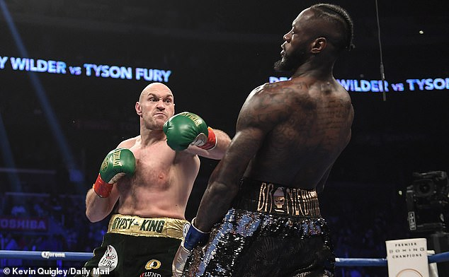 Image result for fury knocking down wilder
