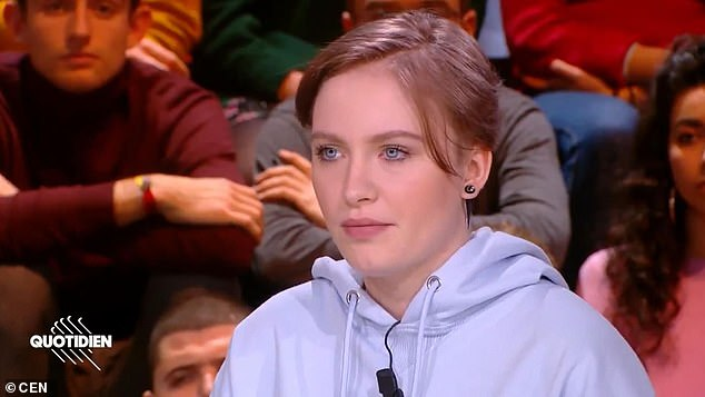 French teenager Mila (photo on a French television program) received death threats after the call of Islam a
