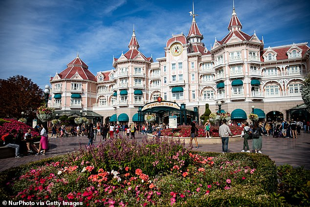 The Disneyland Hotel at Disneyland Paris, which is described as a luxury property with five stars