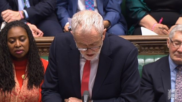 Jeremy Corbyn said the PM was failing 'spectacularly' to provide leadership on the climate change issue