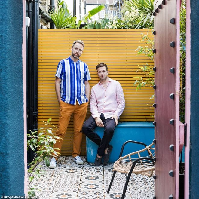 Ed O'Donnell, an interior designer and his partner JP Banks, bought the house in Brixton, south London, as a 'wreck' before painstakingly revamping the trendy abode