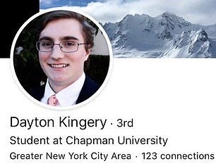 Kingery's LinkedIn page has since been deleted