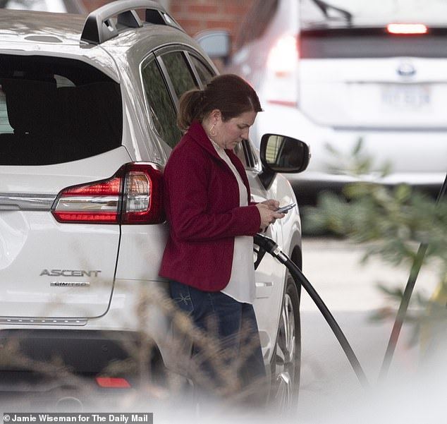 Filling up her car on the school run, this is the US mother refusing to return to the UK to face charges over Harry Dunn's death
