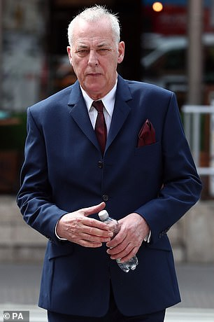 Michael Barrymore outside court in May 2017