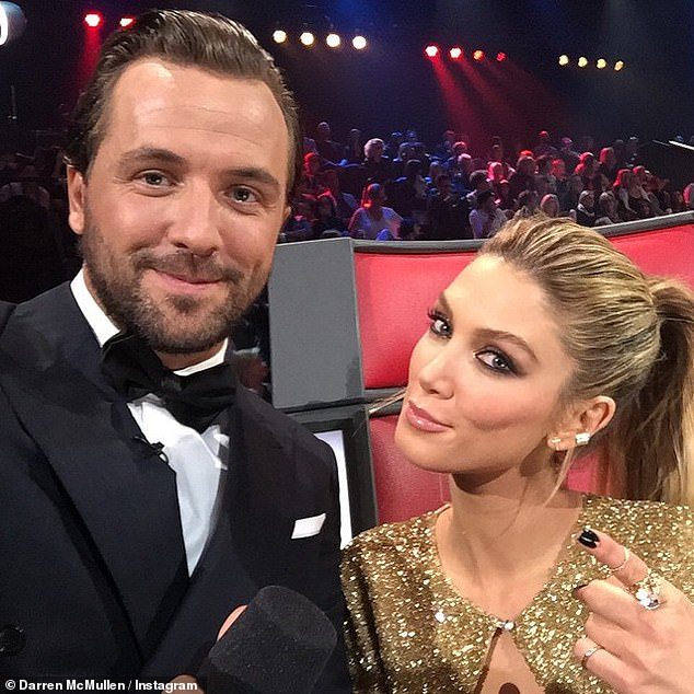 Darren McMullen has been announced as the new co-host of The Voice. He is pictured with The Voice judge Delta Goodrem, with whom he reportedly had a brief relationship. The LA-based television presenter was allegedly caught driving in Sydney on his Californian licence last year