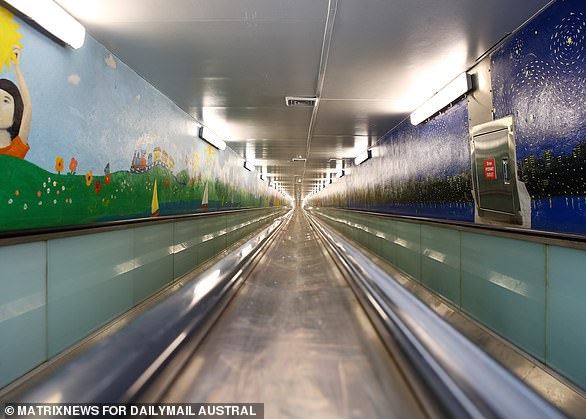 The Domain Express Walkway (above) is still one of the longest travelators in the world