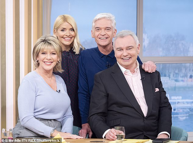 Slammed:Eamonn Holmes has been slammed by fans for 'ruining' Phillip Schofield's heartfelt announcement that he is gay on Friday's episode of This Morning