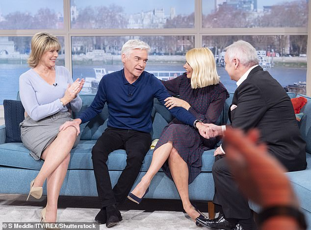 'Tacky':Viewers were left outraged after the Irish presenter, 60, made a 'tacky' hot tub joke and quipped that he thought he was getting his job just minutes after Phil, 57, broke down in tears live on television after coming out
