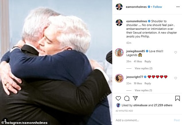 Support: Eamonn posted a message of support to Phillip and said a 'new chapter awaits' for the presenter since his announcement