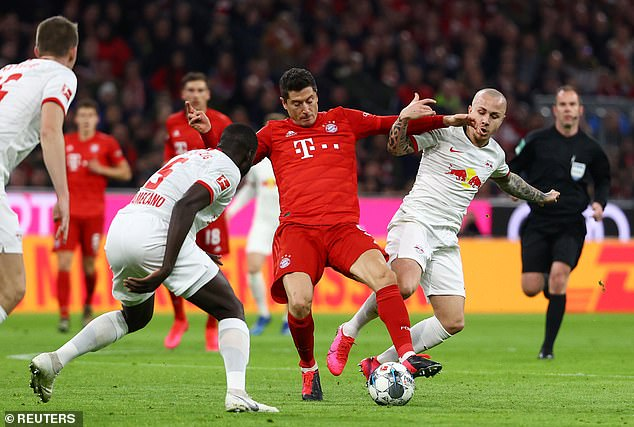 The Portuguese manager took in the draw at the top of the Bundesliga at the Allianz Arena