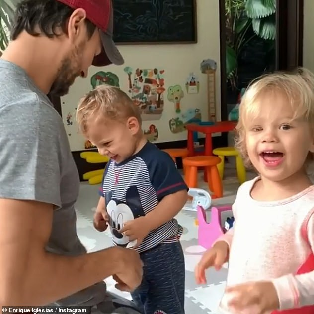 Dad: Enrique has kept his personal life — including his relationship with Anna — out of the spotlight for many years, and shares a few rare shots with his children on Instagram