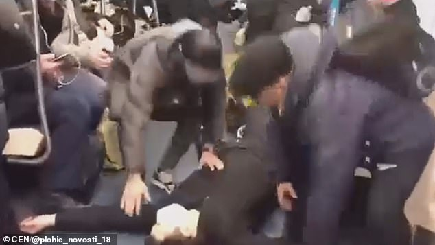 Video uploaded to a prank site showedDzhaborov collapsing on the floor of the train as people rush to help him, before they turn and flee as he begins seizing