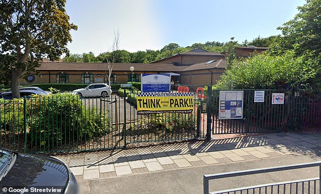 Castlecombe School (pictured) was closed this afternoon as police responded to reports of a gun at the south London site